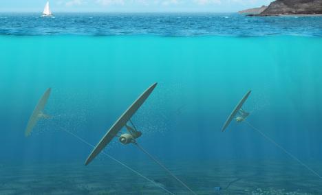 energia z vody setrenie energie more prudy elektrarne podmorske generatory sarkany  Švédske podvodné šarkany vyrobia 800 krát viac čistej energie, ako veterné turbíny nad hladinou