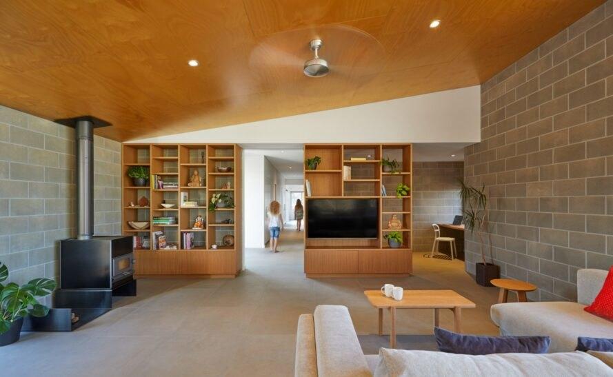 Paddock House13 889x547 Moderný pasívny dom z Austrálie so solárnou technológiou