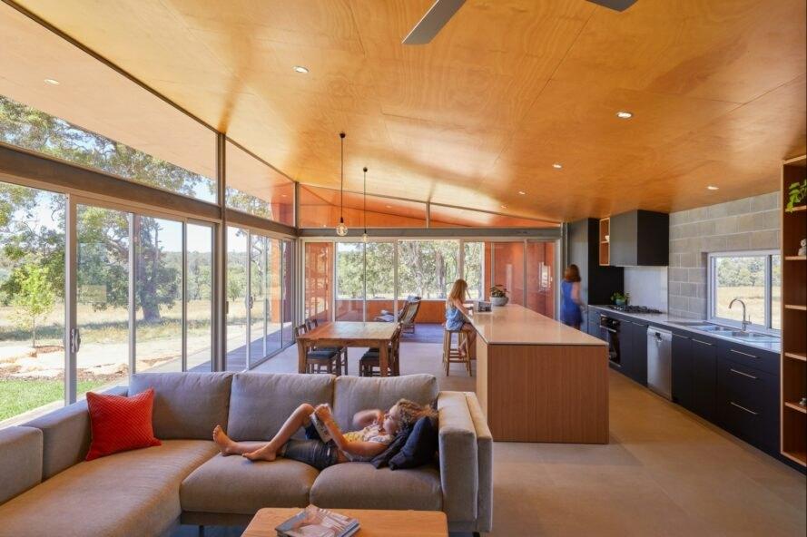 Paddock House17 889x592 Moderný pasívny dom z Austrálie so solárnou technológiou