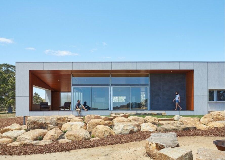 Paddock House7 889x633 Moderný pasívny dom z Austrálie so solárnou technológiou
