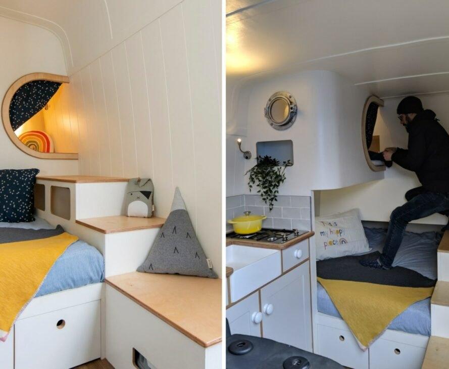 This Moving House1 889x730 Mercedes prerobený na unikátny karavan s dvomi lôžkami a útulným interiérom