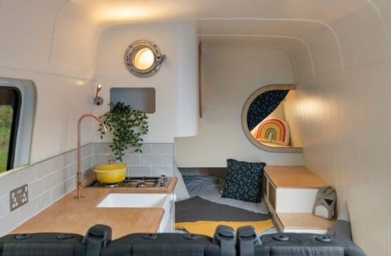 spálňa v karavane