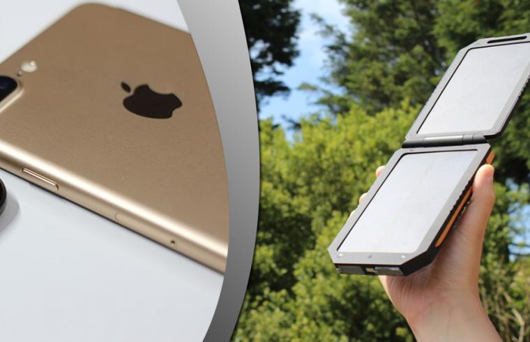 iphone a solárna nabíjačka
