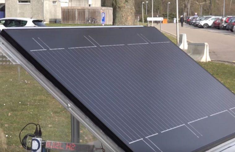 solárny panel vyrábajúci vodík