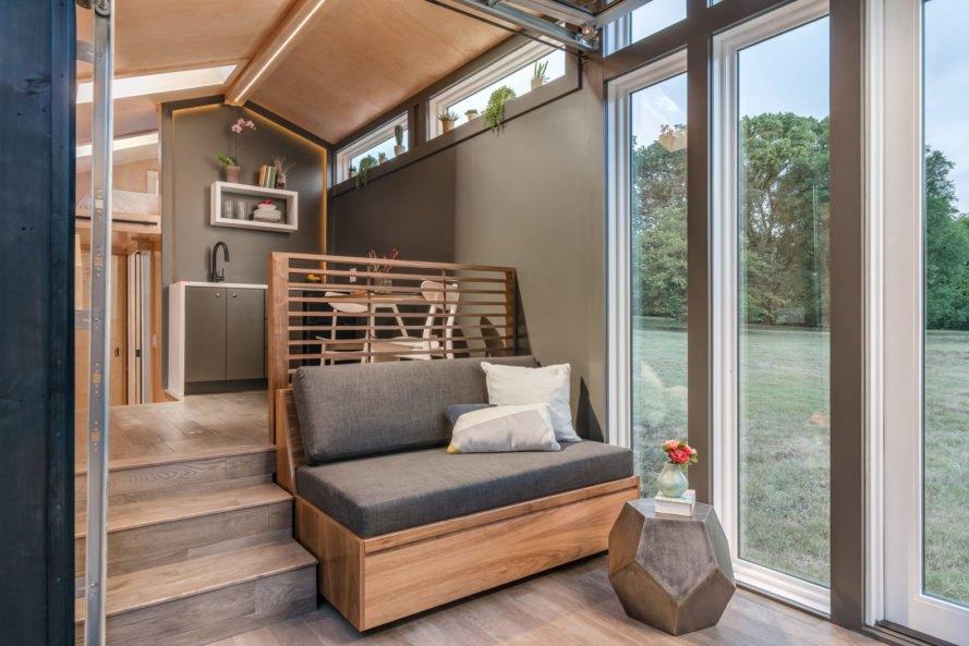 mobilný dom s oknami