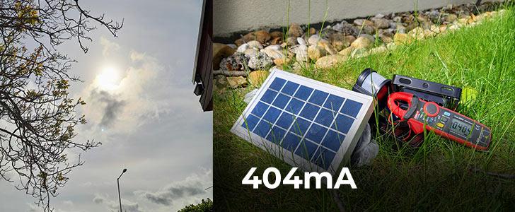 404 Potrebuje solárne osvetlenie slnko? Alebo stačí len denné svetlo?