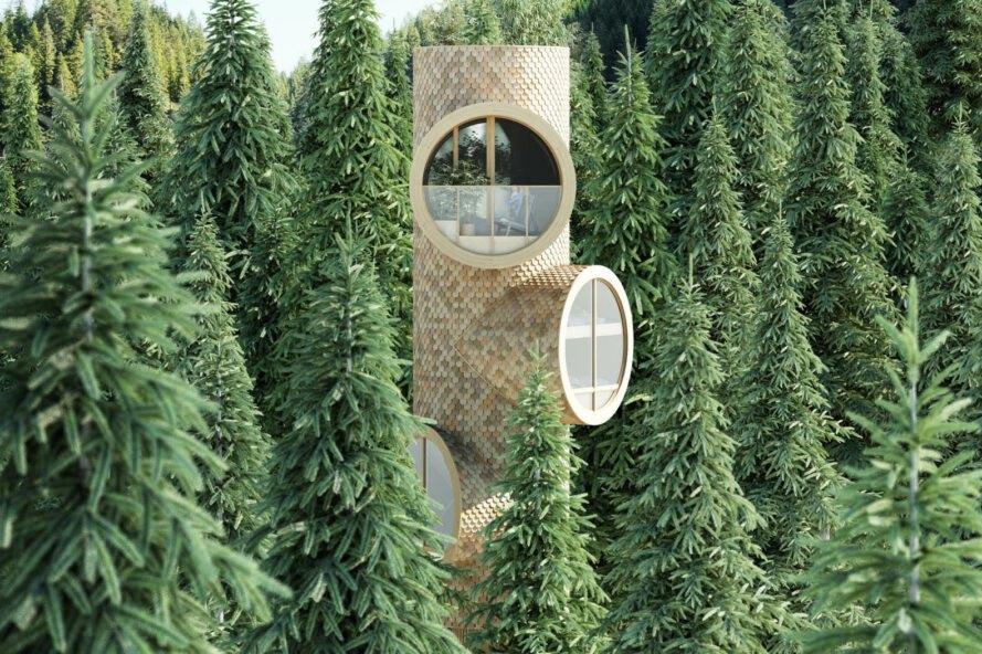 bert mini dom v lese Rozprávkový Treehouse, inšpirovaný filmom Ja zloduch