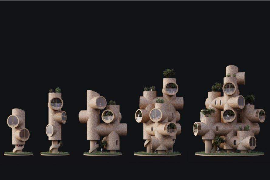 bert variacie moduly Rozprávkový Treehouse, inšpirovaný filmom Ja zloduch