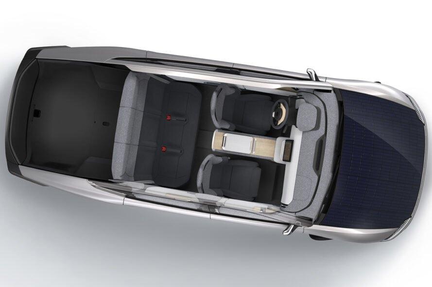 Elektromobil pohon solarna energia Elektromobil, ktorý využíva na zvýšenie energie solárne panely